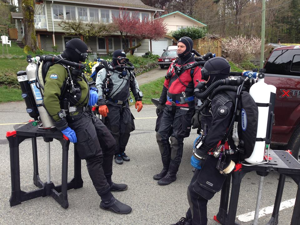 GUE CCR Class with Richard Lundgren. Critical skills dives at Maple Bay.