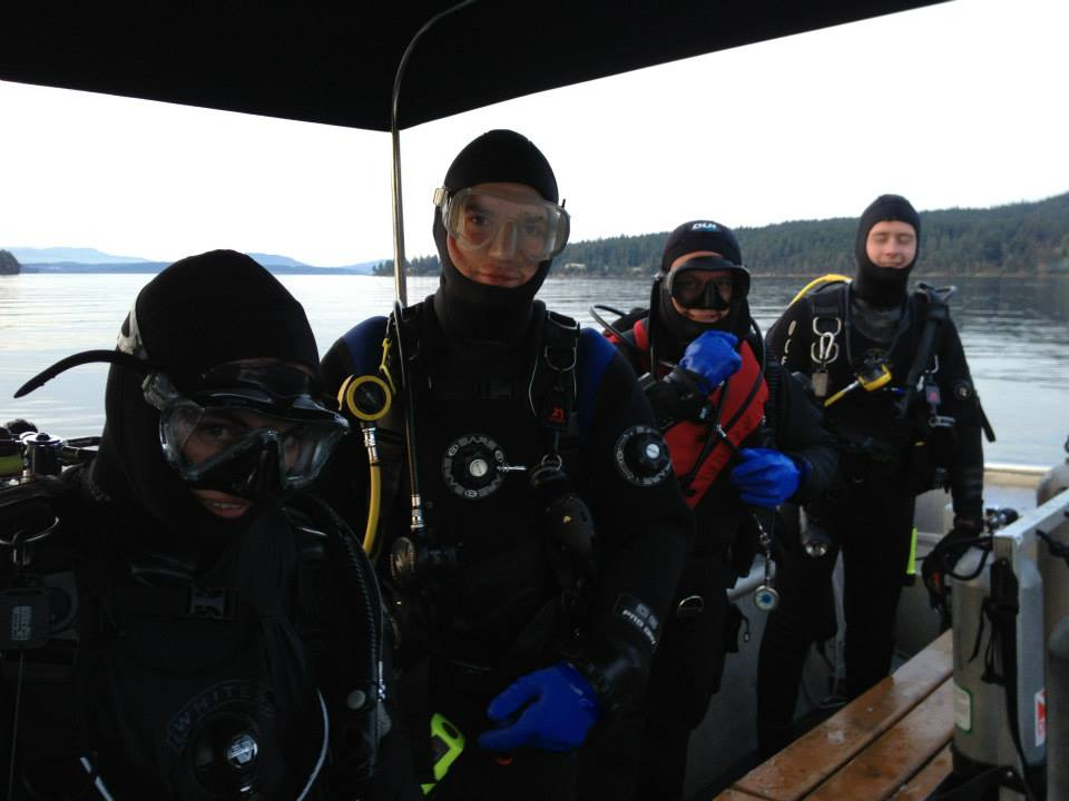 Danielle and Rob, Advanced Open Water graduates. Hosted by Rockfish Divers.