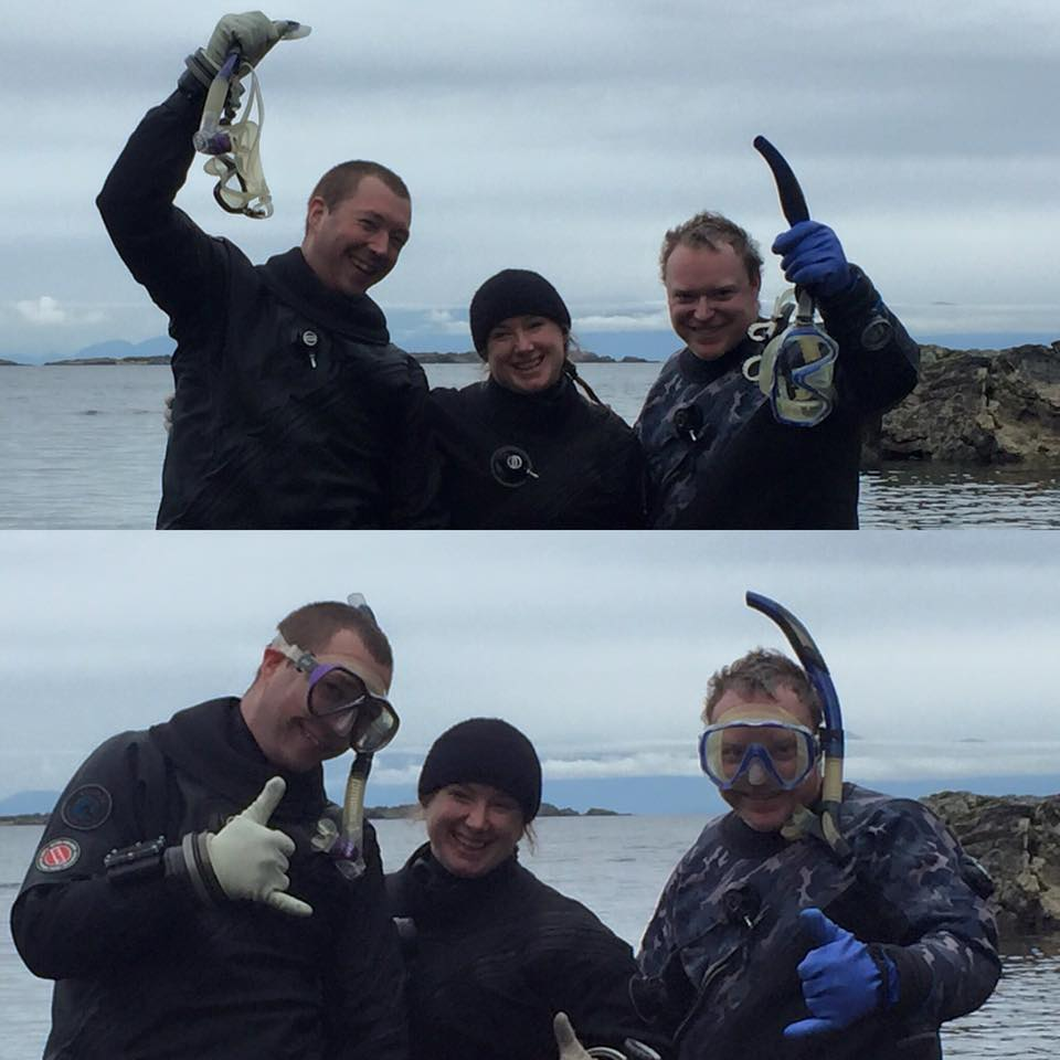 So... About this... Congratulations Dave and Josh on completion of your Rescue Diver certification. It's not a GUE class but useful for anyone who may be acting in a dive leader capacity